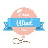 Глобальная эмблема приветствию дня ветра Стоковая Фотография RF