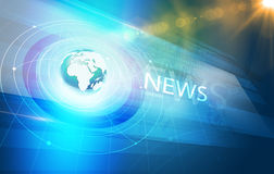 Глобальное взаимодействие предпосылки мировых новостей цифров Стоковые Фотографии RF
