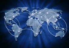 Глобальное взаимодействие Стоковое фото RF