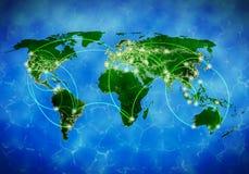 Глобальное взаимодействие Стоковое Изображение RF