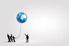 Глобальное взаимодействие Стоковое Изображение