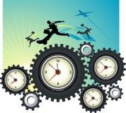 Глобальное перескакивание времени иллюстрация вектора