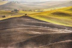 Глобальное потепление в ландшафте Тосканы, Италии Стоковое фото RF
