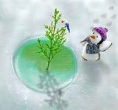 Глобальное потепление в северном полюсе Стоковая Фотография RF