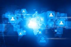 Глобальное соединение людей бесплатная иллюстрация