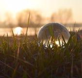 Глобальное солнце на городке Стоковая Фотография RF