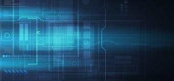 Глобальное busin принципиальной схемы компьютерной технологии безграничности иллюстрация штока
