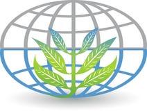 Глобальное Eco падает логотип Стоковое Изображение RF