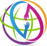 Глобальные руки помощи Стоковая Фотография RF