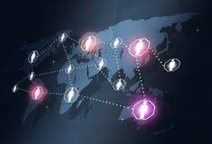 Глобальные соединения сеты Стоковое Фото