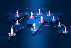 Глобальные соединения людей Стоковые Изображения RF