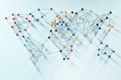 Глобальные соединения Стоковое Изображение RF