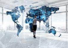 Глобальные технологии на будущая жизнь Стоковая Фотография