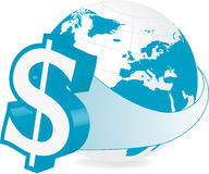 Глобальные финансы - доллар Стоковые Фото