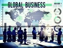 Глобальный бизнес международный начинает вверх концепцию роста Стоковые Изображения RF