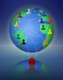 Глобальный многоуровневый маркетинг сети Стоковое Изображение RF