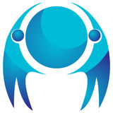 Глобальный логотип команды иллюстрация штока