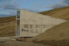 Глобальный свод Свальбард Норвегия семени Стоковое Изображение