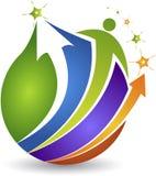 Глобальный человеческий активный логотип Стоковая Фотография RF