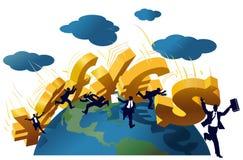 Глобальный эффект домино иллюстрация вектора
