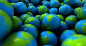 Глобусы земли шарика камеди Стоковые Фотографии RF