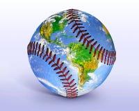 Глобус бейсбола Стоковое Изображение