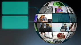 Глобус видео ежедневной жизни компаний Стоковые Изображения