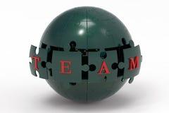 Глобус головоломки команды Стоковая Фотография