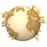Глобус евро иллюстрация вектора