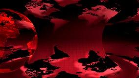Глобус земли 2 вращанный на красной предпосылке иллюстрация вектора