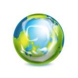 Глобус земли изолированный на белизне Бесплатная Иллюстрация