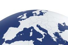 Глобус земли карты Европы Стоковые Изображения