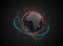 Глобус земли конспекта Sc-Fi Стоковое Изображение