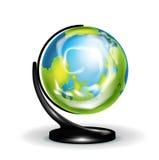 Глобус земли образования изолированный на белизне Иллюстрация вектора