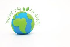 Глобус, земля сделанная от глины Стоковая Фотография