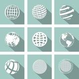 Глобус значка Стоковые Изображения