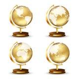 глобус золотистый Стоковые Изображения