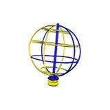Глобус изолированный на белой предпосылке Стоковые Фото