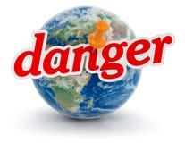 Глобус и опасность (включенный путь клиппирования) бесплатная иллюстрация