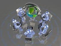 Глобус и синь укомплектовывают личным составом Стоковое Фото