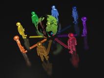 Глобус и цвет укомплектовывают личным составом Стоковое Фото