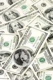 Глобус на куче долларов Стоковая Фотография RF