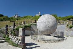 Глобус на парке страны Durlston Стоковые Изображения RF