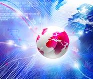 Глобус на предпосылке цифровой технологии Стоковая Фотография