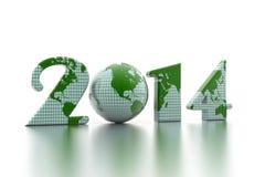 Глобус 2014 Нового Года Стоковая Фотография