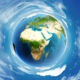 Глобус дня атмосферы мира Стоковое фото RF