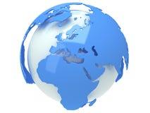 Глобус планеты земли. 3D представляют. Взгляд Европы. Стоковая Фотография RF