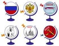 Глобус Россия Стоковые Изображения