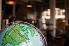 Глобус Северной Америки Стоковое Фото
