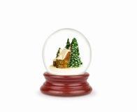 Глобус снега рождества изолированный на белизне Стоковые Фото